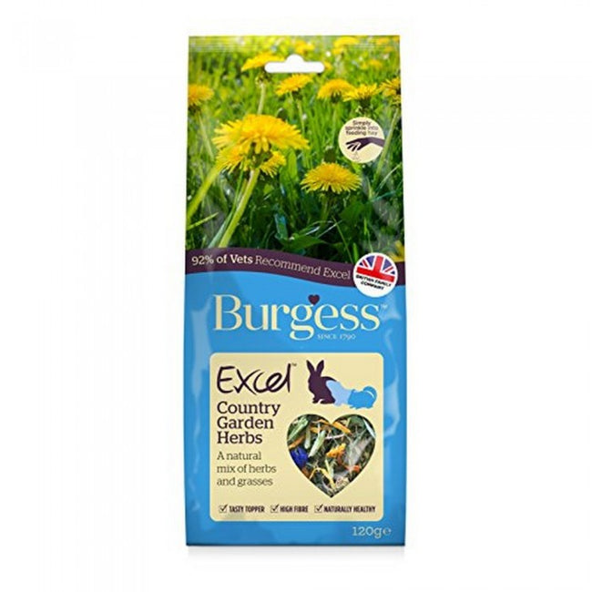 Front - Burgess Excel Snack Country Garden Herbs Small Animal Food (6 Packs)