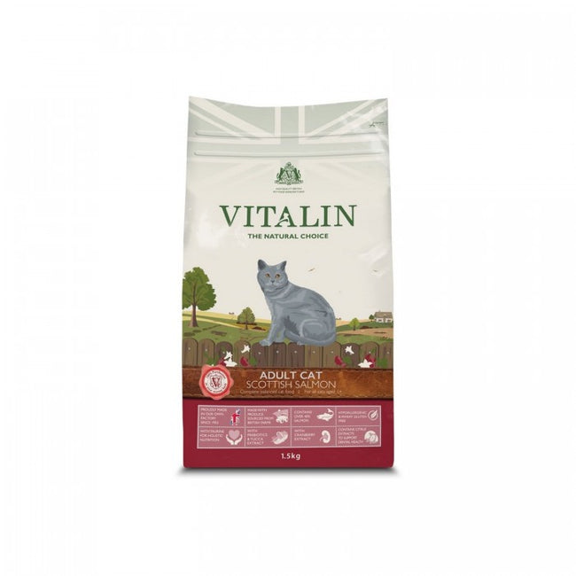 Front - Vitalin Scottish Salmon Adult Cat Food