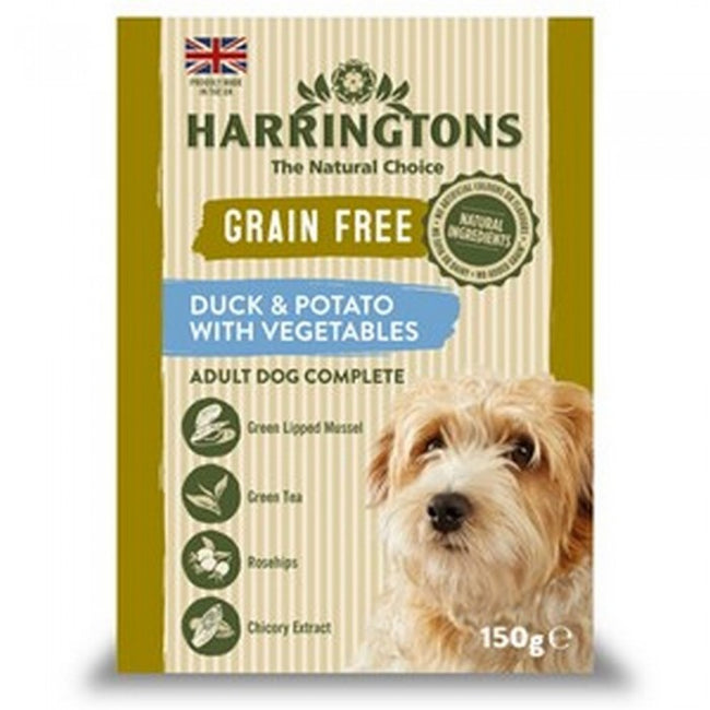 Front - Harringtons Grain Free Duck And Potato Wet Dog Food (7 Packs)