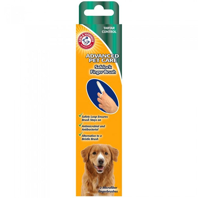 Front - Arm & Hammer Safelock Dog Finger Toothbrush