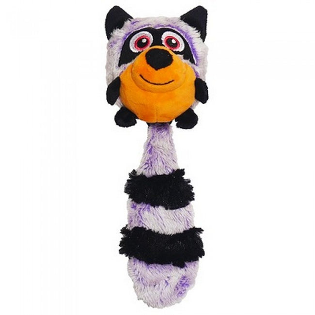 Front - Rosewood Jolly Doggy Squeak Raccoon Dog Toy