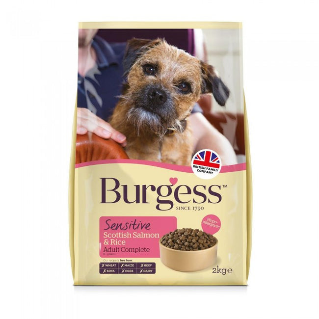 Front - Burgess Sensitive Salmon & Rice Dog Food