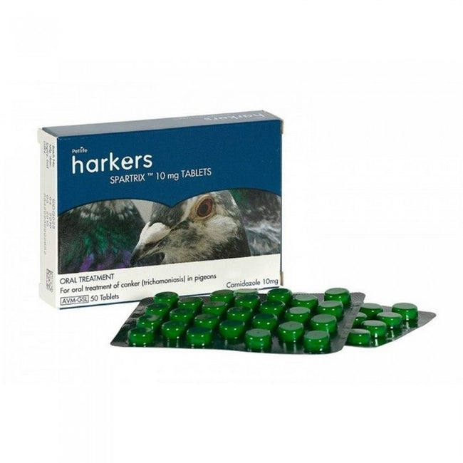 Front - Harkers Spartrix Pidgeon Canker Tablets (Pack Of 50)