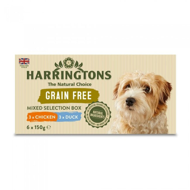 Front - Harringtons Mixed Pack Complete Wet Dog Food (4 x 6 Trays)