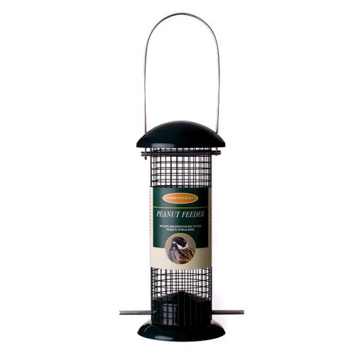 Front - Johnston & Jeff Metal Peanut Bird Feeder