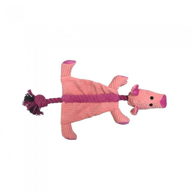Front - Good Boy Raggy Crinkle Pig Dog Toy