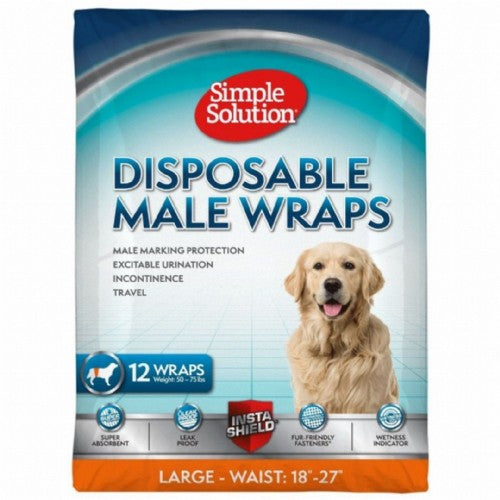 Front - Simple Solution Disposable Male Wrap