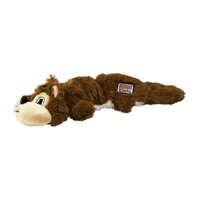 Front - Kong Scrunch Knots Squirrel Dog Toy