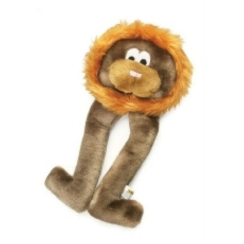 Brown - Front - PetLove Doggie Long Legs Lion Dog Toy