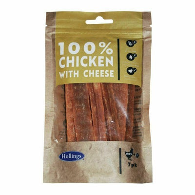 Front - Hollings 100% Chicken Bars With Cheese Dog Treats