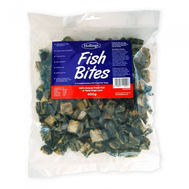 Front - Hollings Fish Bites Dog Treats