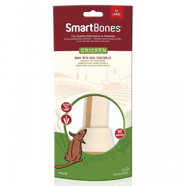 Front - SmartBones Large Chicken Bone Dog Chew