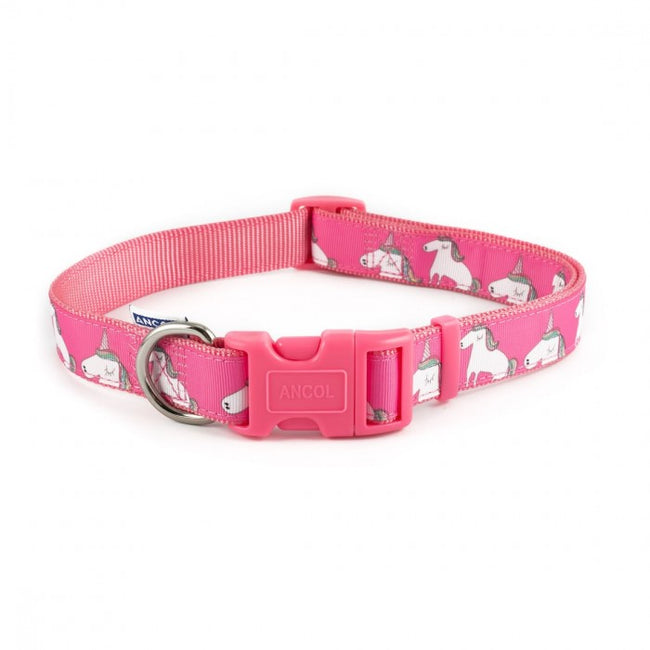 Front - Ancol Nylon Unicorn Dog Collar