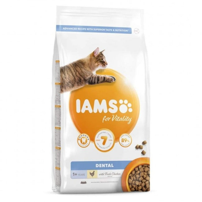 Front - Iams Vitality Adult Dental Chicken Cat Food