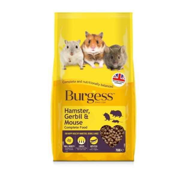 May Vary - Front - Burgess Hamster & Gerbil Food