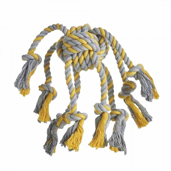 Front - Sharples Rope Octopus Dog Toy