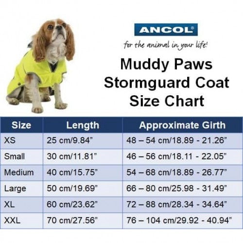Hi-Viz - Back - Ancol Stormguard Dog Jacket