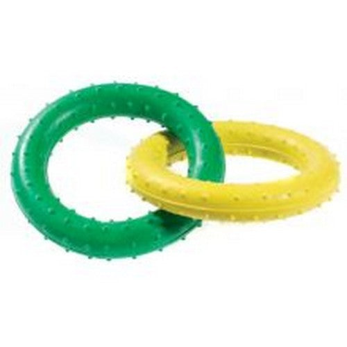 Front - Caldex Classic Dogs Pimple Rubber Rings Tug Toy