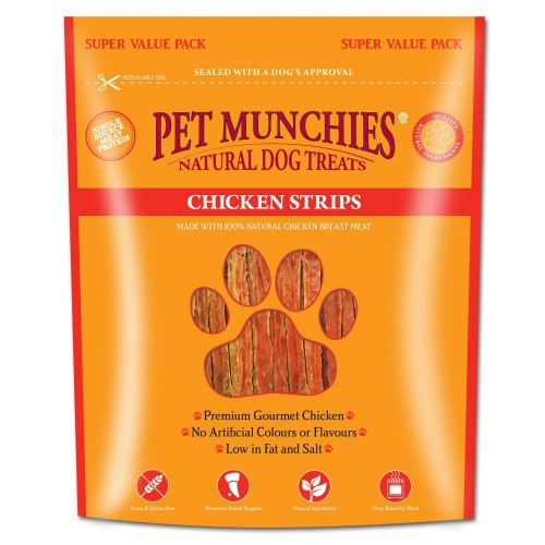 Front - Pet Munchies Chicken Strips Dog Treats Super Value Pack