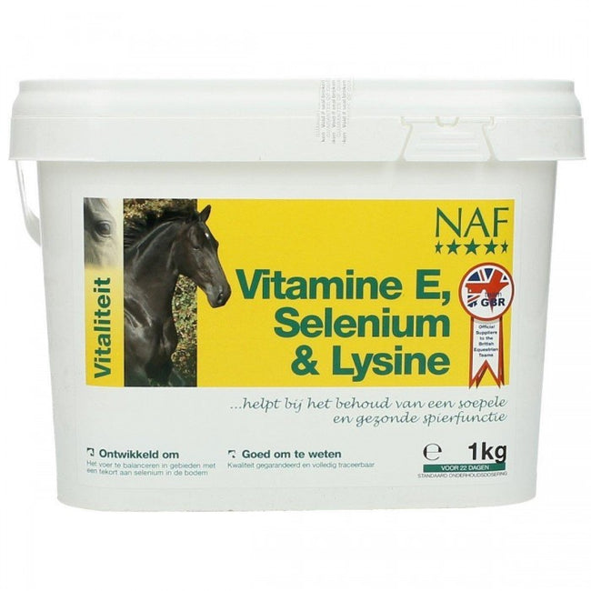 Front - NAF Horse Vitamin E Selenium & Lysine Supplement