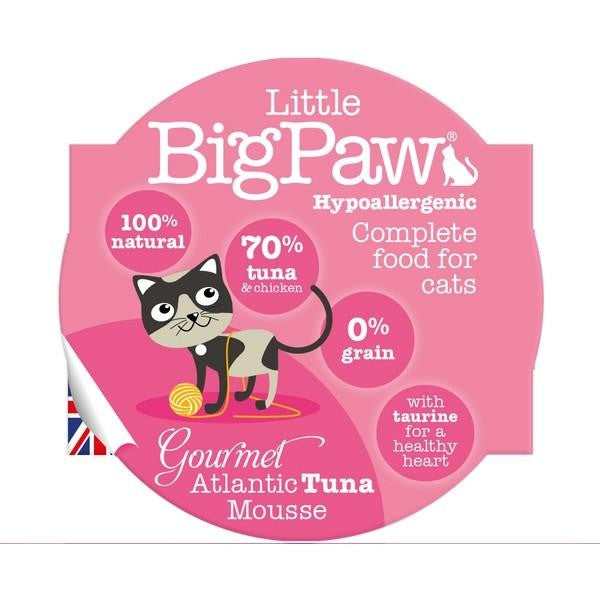 Front - Little Big Paw Gourmet Atlantic Tuna Mousse Cat Food (8 x 85g)