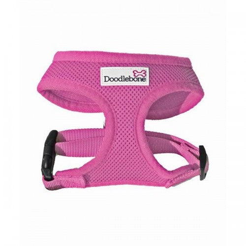 Pink - Front - Doodlebone Air Mesh Dog Harness