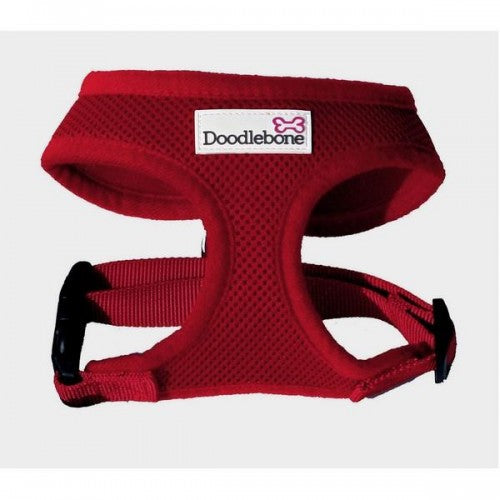 Red - Front - Doodlebone Air Mesh Dog Harness