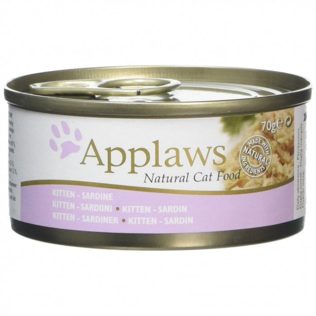 Front - Applaws Kitten Sardine Cat Food Tins (Pack Of 24)