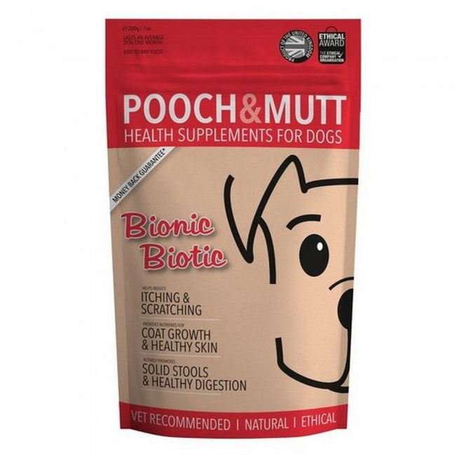 Front - Pooch And Mutt Bionic Biotic Dog Health Supplement