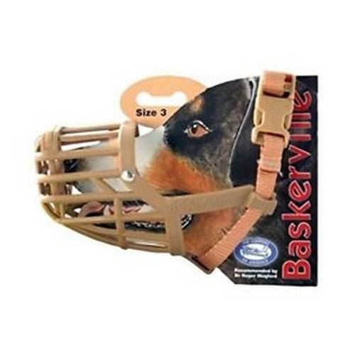 Brown - Back - Company Of Animals Baskerville Dog Muzzle