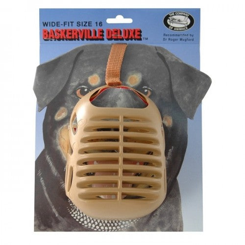 Brown - Front - Company Of Animals Baskerville Dog Muzzle