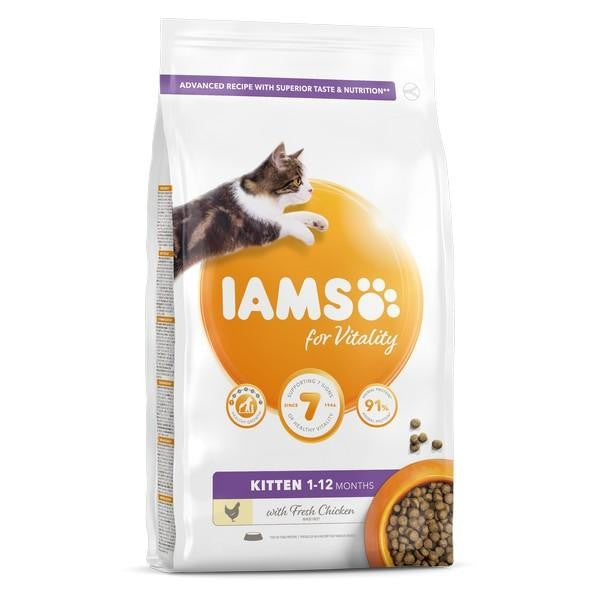 May Vary - Front - Iams Vitality Kitten Food Chicken Cat Food