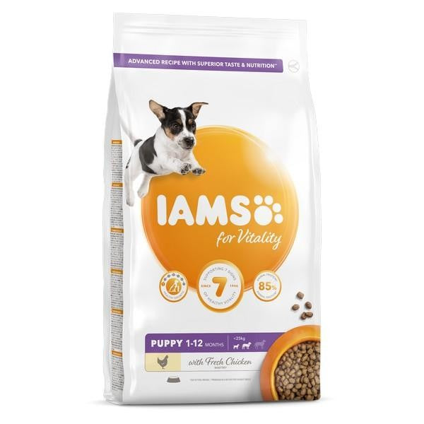 Front - Iams Vitality Puppy Small/Medium Breed Chicken Dog Food