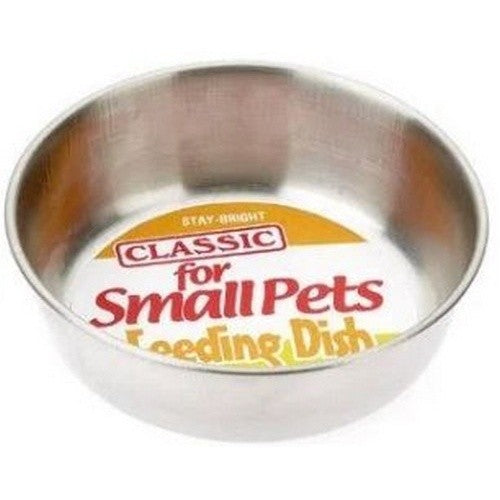 Front - Classic Stainless Steel Hamster Dish
