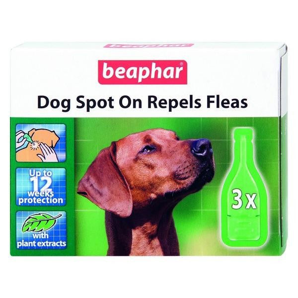 Front - Beaphar Dog Spot On 12 Week Flea Treatment Liquid