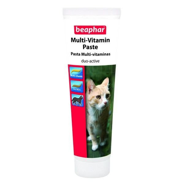 Front - Beaphar Duo Active Cat Vitamin/Prebiotic Paste Liquid