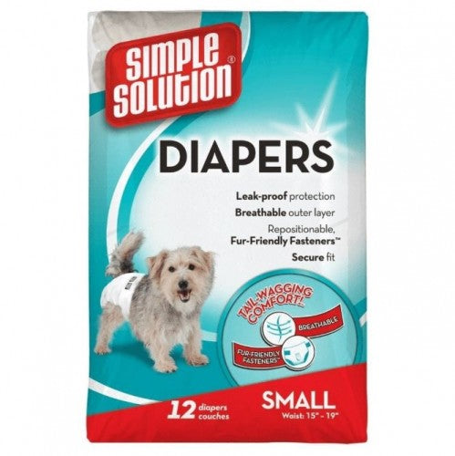 May Vary - Side - Simple Solution Disposable Dog Diapers (Pack Of 12)