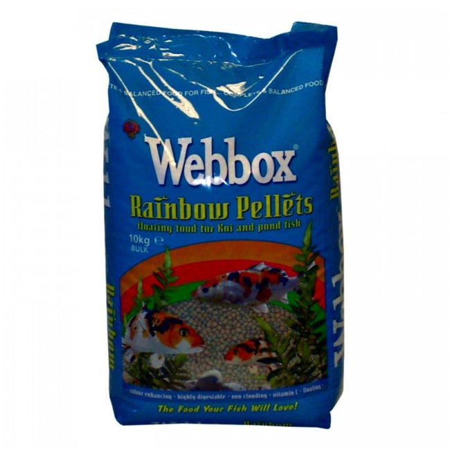 Front - Webbox Rainbow Pond Fish Food Pellets