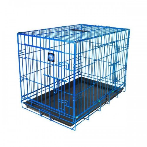 Blue - Front - James & Steel Double Door Dog Crate