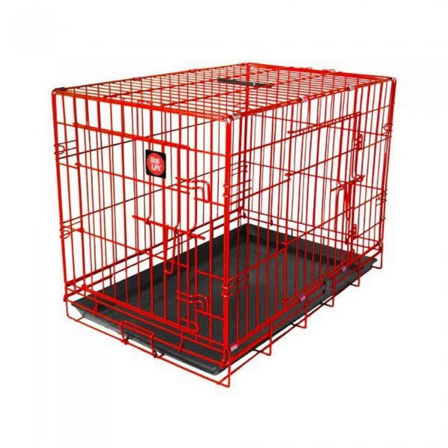 Front - James & Steel Double Door Dog Crate