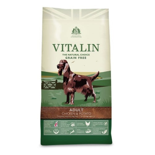 Front - Vitalin Natural Adult Grain Free Dry Dog Food