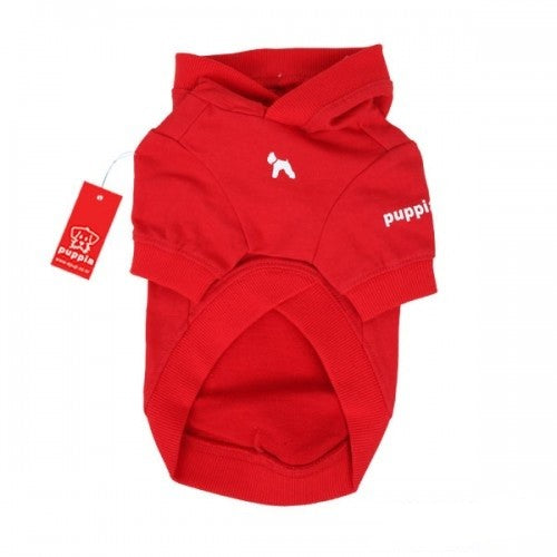 Red - Back - Puppia Tailwagger Hooded Dog Jumper