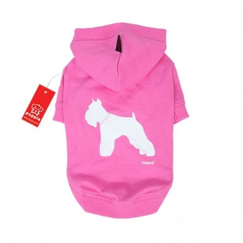 Pink - Front - Puppia Tailwagger Hooded Dog Jumper