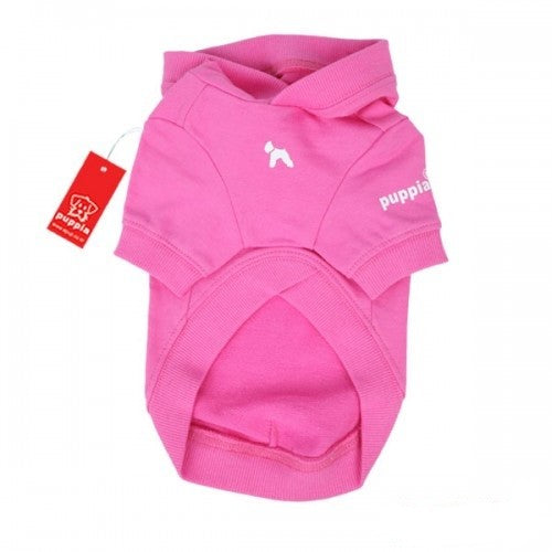 Pink - Back - Puppia Tailwagger Hooded Dog Jumper
