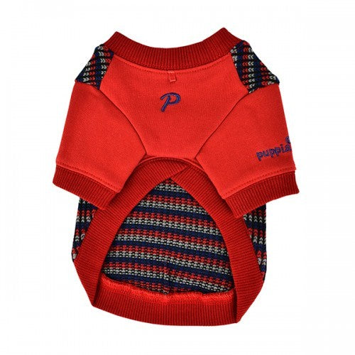 Wine Red - Back - Puppia Elliott Dog Jumper