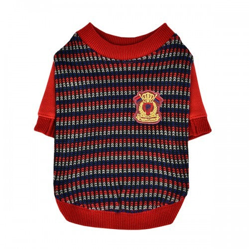 Wine Red - Front - Puppia Elliott Dog Jumper