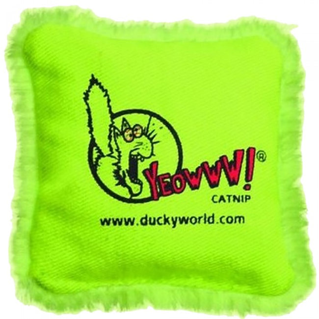 Front - Ducky Yeowww! Catnip Pillow Cat Toy