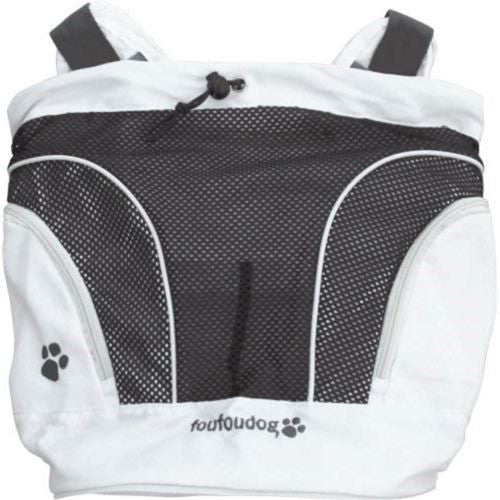 White - Front - Foufou Dog Poochy Pouch