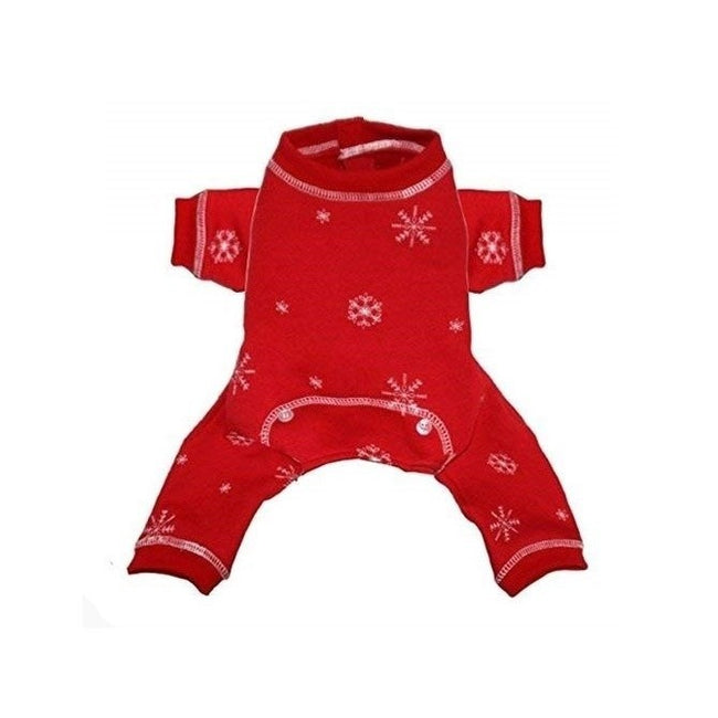 Red - Front - Hip Doggie Snowflake Jumper