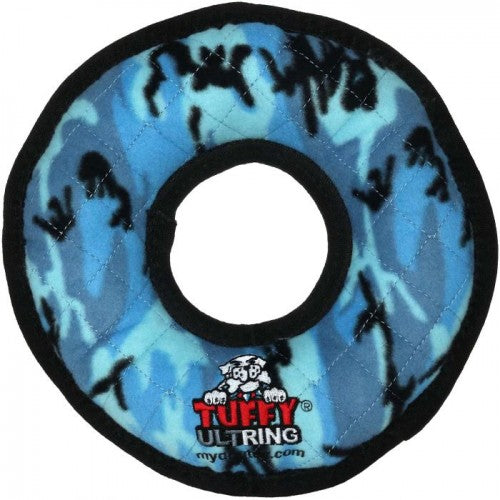Blue Camo - Front - VIP Tuffy Ultimate Ring Dog Toy